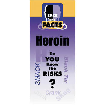 Face the Facts Drug Prevention Pamphlet   Heroin 25 pack