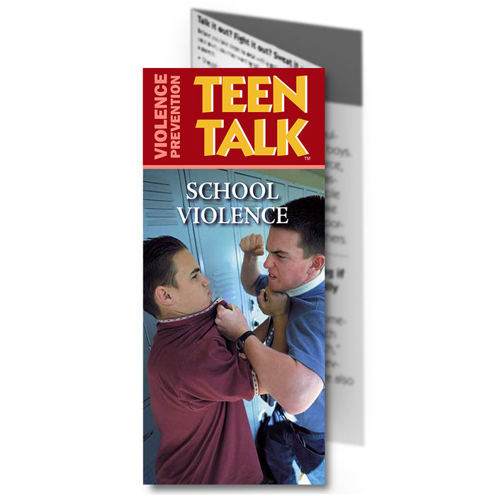 Teen Talk: (25 pack) School Violence Pamphlet