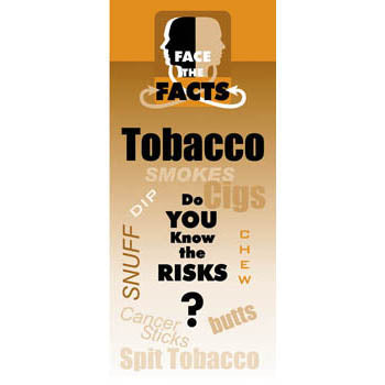 Face the Facts Drug Prevention Pamphlet   Tobacco 25 pack