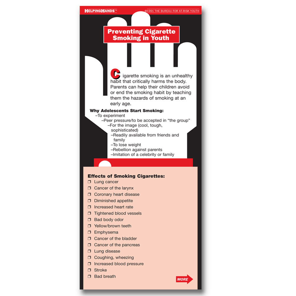 Helping Hands Card: (25 pack) Preventing Cigarette Smoking in Youth