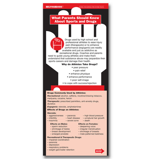 Helping Hands Card: (25 pack) What Parents Should Know About Sports and Drugs