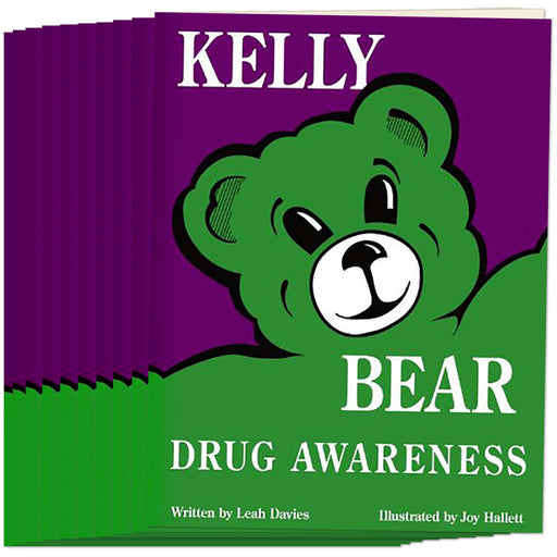 Kelly Bear Drug Awareness Book, (Set of 10)