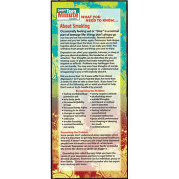 Smart Teen Minute Card: (50 pack) What You Need to Know... About Smoking