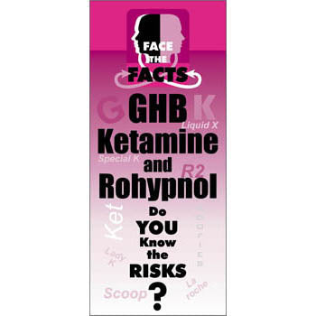 Face the Facts Drug Prevention Pamphlet   GHB, Rohypnol, and Ketamine 25 pack