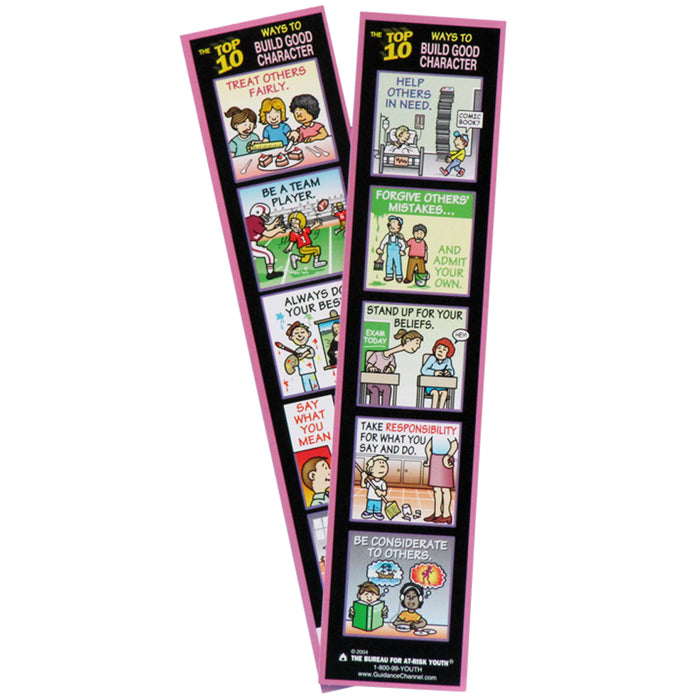 The Top 10 Ways to Build Good Character Bookmark 100 pack