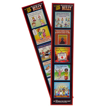 The Top 10 Reasons Not to Bully Bookmark 100 pack