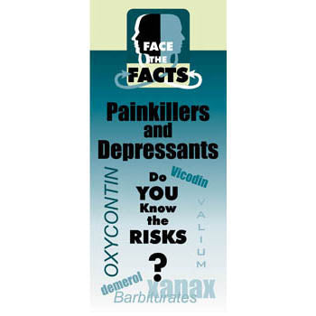 Face the Facts Drug Prevention Pamphlet   Pain Killers & Depressants 25 pack