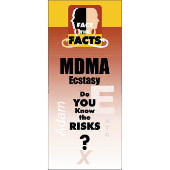 Face the Facts Drug Prevention Pamphlet   MDMA/Ecstasy 25 pack