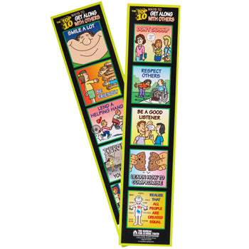 The Top 10 Ways to Get Along with Others Bookmark 100 pack