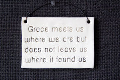 GRACE MEETS US WHERE WE ARE...