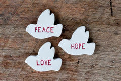 DOVES OF PEACE LOVE & HOPE