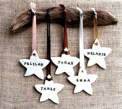 DRIFTWOOD MOUNTED NAME STARS