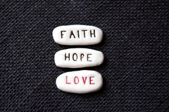 Faith Hope & Love Stones