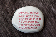 """GRIEVE NOT"" STONE"