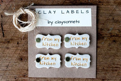 """FROM MY KITCHEN"" CLAY LABELS"