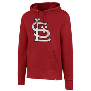 St. Louis Cardinals Red Pullover Fleece Hoodie with Contrast Hood