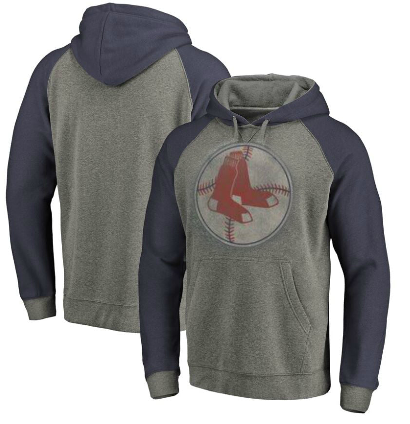 Boston Red Sox Coop Large Distressed Grey Hoodie
