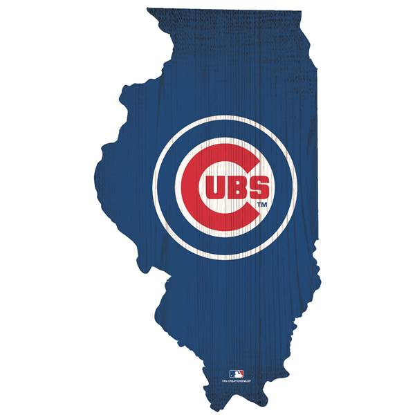 Chicago Cubs State Team Color Logo Sign