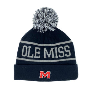 Ole Miss Rebels Below Zero Cuffed Knit Two Tone Beanie