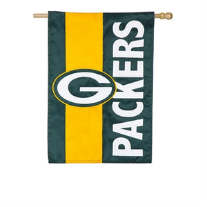 Green Bay Packers Striped House Flag