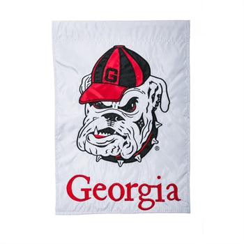 Georgia Bulldogs White Garden Flag
