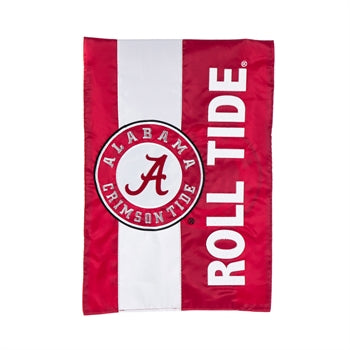 Alabama Crimson Tide Striped Garden Flag