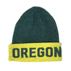 Oregon Ducks Delegate Two-Tone Cuff Knit Beanie