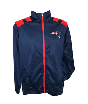 New England Patriots Navy Double Play Full-Zip Jacket