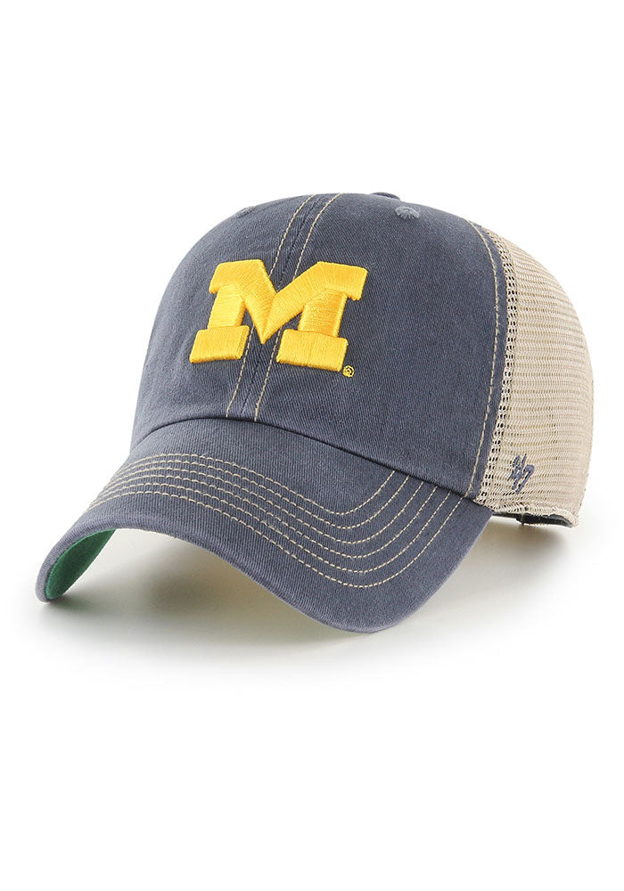 47 Michigan Wolverines Trawler Adjustable Hat - Navy Blue