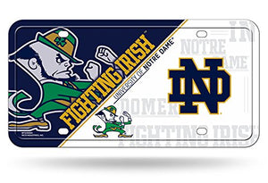 Rico Industries NCAA Notre Dame Fighting Irish Metal License Plate Tag