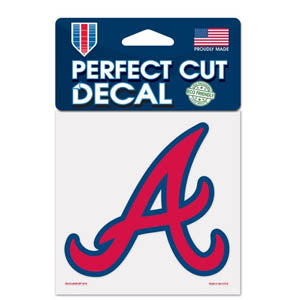 Atlanta Braves 4X4 Perfect Color Cut Decal