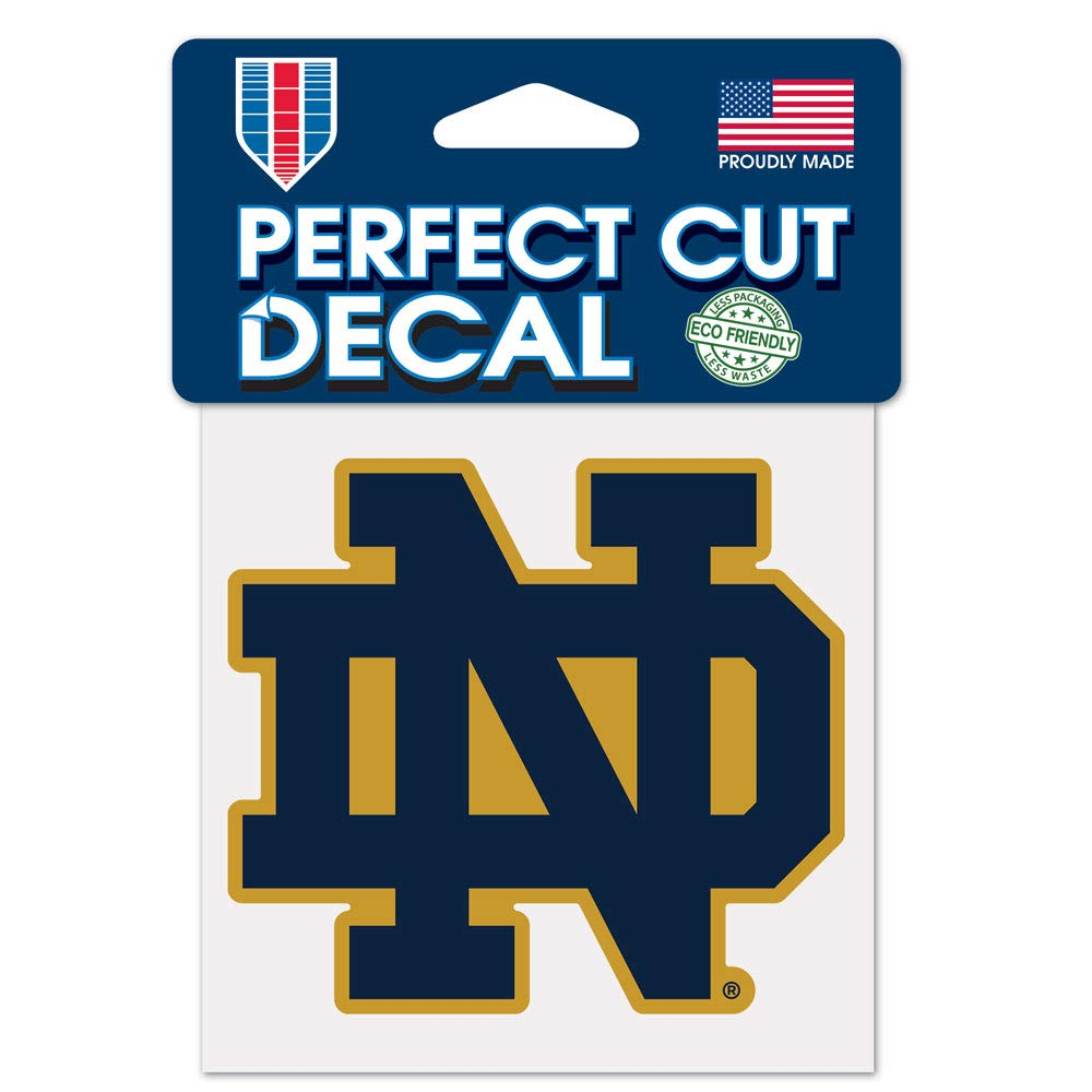 NCAA Notre Dame Fighting Irish 4x4 Perfect Cut Color Decal