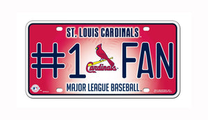 MLB St. Louis Cardinals #1 Fan Metal Tag