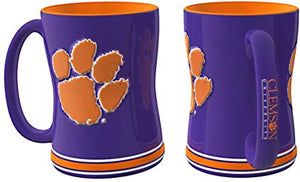 Clemson Tigers Coffee Mug - 15oz Sculpted