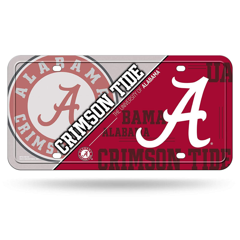 NCAA Alabama Crimson Tide Metal License Plate Tag