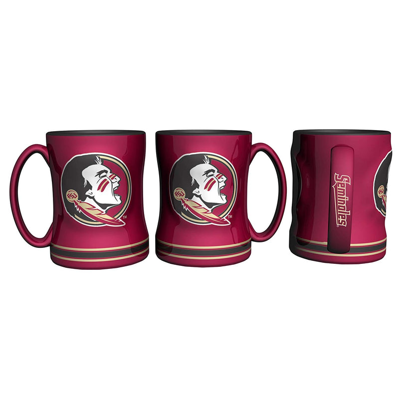 Florida Seminoles Ceramic Relief Coffee Mugs\
