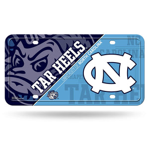 NCAA North Carolina Tar Heels Metal License Plate Tag