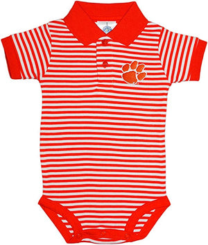 Clemson Tigers Orange Striped Collar Onesie
