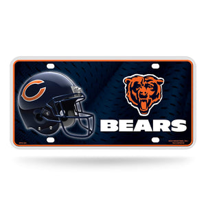 NFL Chicago Bears Metal License Plate Tag