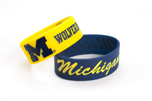 NCAA Silicone Rubber Bracelet Michigan Wolverines