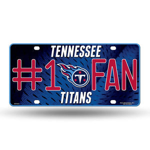 NFL Tennessee Titans #1 Fan Metal License Plate Tag
