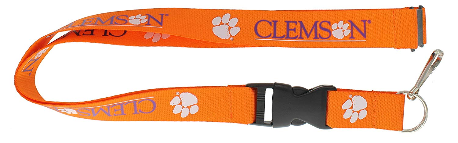 NCAA Clemson Tigers Team Lanyard, Orange