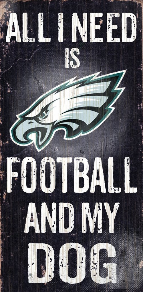 Philadelphia Eagles Football And My Dog Wooden Rope Sign