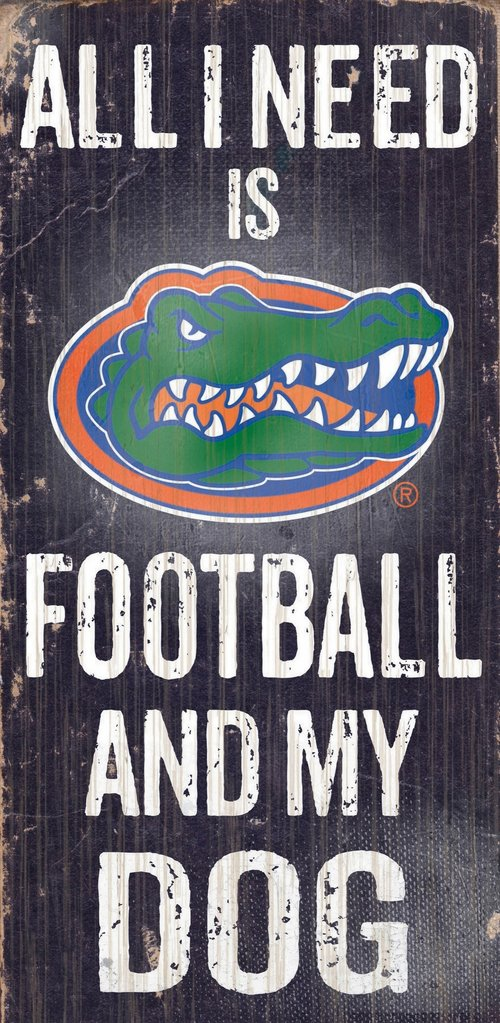 Florida Gators Football And My Dog Wooden Rope Sign