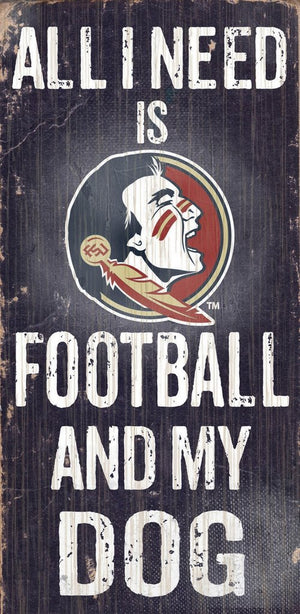 Florida State Seminoles Football And My Dog Wooden Rope Sign