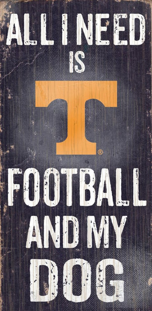 Tennessee Volunteers Football And My Dog Wooden Rope Sign