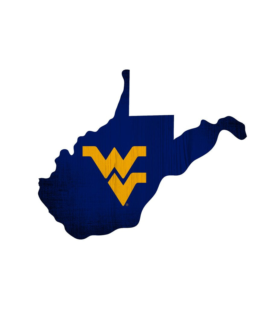 West Virginia Mountaineers State Team Color Logo Sign