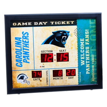 Carolina Panthers Team Scoreboard Bluetooth Clock