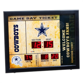 Dallas Cowboys Team Bluetooth Scoreboard Clock