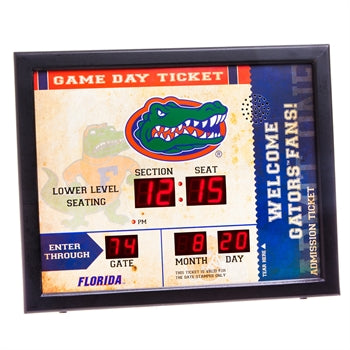 Florida Gators Team Bluetooth Scoreboard Clock